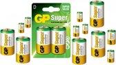 60 Stuks (30 Blisters a 2st) - GP Super Alkaline LR20/D batterij