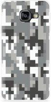 Galaxy A3 (2016) Hoesje Pixel Camouflage Grey