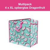 4 x Opbergtas - Big Shopper Dragonfruit Multipack