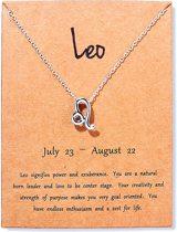Leeuw ketting - Sterrenbeeld hanger - Zilverkleurig - Leo - Leeuw