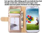 Premium Hoesje voor LG G5 H850 - Book Case - Glad Leer Leren Lederen - geschikt voor pasjes - Goud