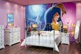 Fotobehang Papier Disney, Belle en het Beest | Blauw | 254x184cm