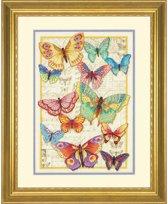 borduurpakket 70-35338 collage vlinders