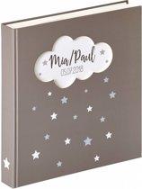 Walther Magical - Babyalbum - 28 x 30,5 cm - 50 pagina's - Grijs met zilveren sterren opdruk en een uitstansing in de vorm van een wolk