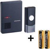 Draadloze Grundig Deurbel met 1 Ontvangers nu inclusief 2x Duracell batterijen