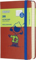 Moleskine Limited Edition Peanuts - 12 Months Daily Planner 2018 - Pocket - Coral Orange