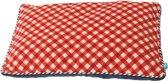 Lief! - Hondenkussen 2-Zijdig - Unisex - Blauw / Rood - 47 x 32 cm