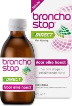 Bronchostop Direct - met Honing - directe verlichting bij vastzittende hoest, kriebel- en prikkelhoest - 120ml