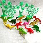 16-delige Set Decoratie Taart Topper Dinosaurs - Multi Dinosaurier