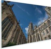 Foto vanaf de binnenplaats van de Kathedraal York Minster Plexiglas 90x60 cm - Foto print op Glas (Plexiglas wanddecoratie)
