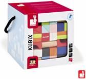 Janod Kubix 100 Houten Blokken Gekleurd