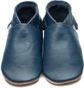 Inch Blue babyslofjes moccasin navy maat S (10,5 cm)