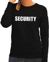 Security tekst sweater / trui zwart voor dames L