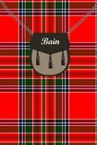 Bain Clan Tartan Journal/Notebook