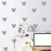 28 stuks Mickey mouse - Zilver, goud, licht en donker roze, grijs en zwart -  Muursticker Mickey Mouse - kinderkamer stikker Mickeymouse - wandversiering disney - mickey voor de kids - 28 stuks van 6,5 x 8cm