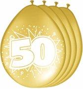 Ballonnen 50 Jaar Goud - 8 stuks