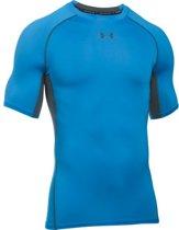 Under Armour UA HG ARMOUR SS - Sportshirt - Heren - Maat XL - Blauw