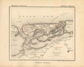 Historische kaart, plattegrond van gemeente Ameland in Friesland uit 1867 door Kuyper van Kaartcadeau.com