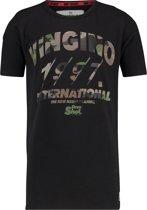 Vingino Jongens T-shirt - Deep Black - Maat 98