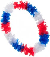 Luxe Holland Hawaii krans rood wit blauw