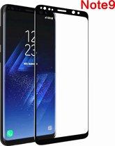 Samsung Glazen screenprotector Samsung Galaxy Note9 3D volledig scherm bedekt explosieveilige gehard glas Screen beschermende Glas Cover Film zwart