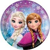 Disney-Frozen-Kartonnen-wegwerp-borden-blauw-maat-One-size