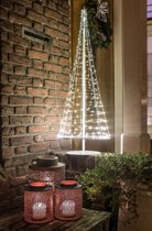 Christmas United kerstboom XXLarge 100x36 cm wit/zilver