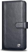Samsung Galaxy S8+ Book Case echt leer van Pierre Cardin - Zwart