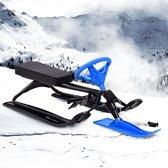 vidaXL Sneeuwracer zwart en blauw
