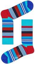 Happy Socks Sokken Multi Stripe Socks  Blauw Maat:41-46
