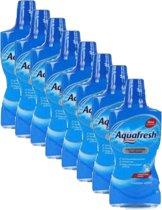 Aquafresh Mondwater – Fresh Mint - Voordeel Verpakking 8 flessen