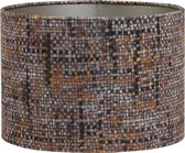 Light & Living PERU Cilinder - Lampenkap - Ø30 cm - Oranje | Bruin