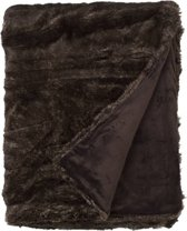Snoozing Yrsa - Fleece - Plaid - 150x200 cm - Bruin/Grijs