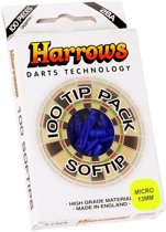 Harrows Softtip punten micro 2ba 100pcs blauw