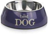 Beeztees Best Dog - Hondenvoerbak - Paars - 14 cm