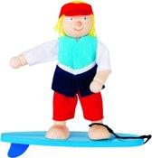 Goki Houten buigpopje surfer 10,5cm