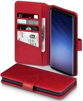 Qubits - luxe echt lederen wallet hoes - Samsung Galaxy S9 Plus - rood