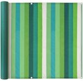 vidaXL Balkonscherm 75x600 cm oxford stof streep groen