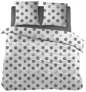 Snoozing Merel - Dekbedovertrek - Lits-jumeaux - 270x200/220 cm + 2 kussenslopen 65x65 cm - Grey