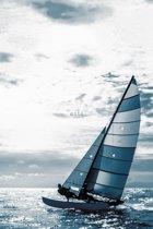 ESTAhome fotobehang zeilboot blauw