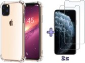 Apple iPhone 11 Pro Hoesje - Anti Shock Hybrid Case - Transparant