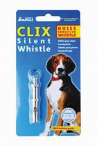 Clix Silent Whistle fluit - Hond - Training - Toonhoogte instelbaar - 5,9 x 1 cm