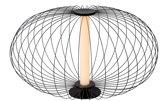 Lucide CARBONY - Tafellamp - Ø 50 cm - LED - 1x5W 2700K - Zwart