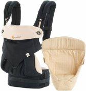 Ergobaby 360 Geboortepakket - Black Camel - ergonomische draagzak inclusief verkleinkussen Natural