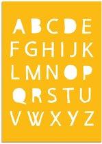 Kinderkamer poster ABC Poster DesignClaud - Geel - A4 poster