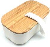 BAMBOO X - bamboe lunchbox broodtrommel volwassen -     1.1 L