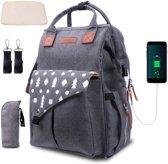 Umitive baby-wrap rugzak | luiertas rugzak multifunctioneel met USB voor reizen | grote capaciteit |  2 wandelwagenriemen 1 verschoningsmatje