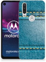 Motorola One Action Silicone Back Cover Jeans