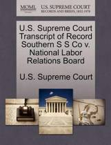 U.S. Supreme Court Transcript of Record Southern S S Co V. National Labor Relations Board