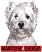 West Highland white terrier sticker (set van 2 stickers)